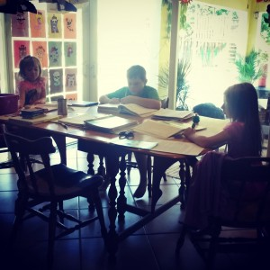 Learning at the dining room table