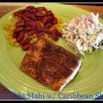 Jerk Mahi Mahi With Caribbean Slaw