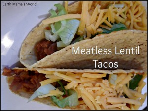 Meatless Lentil Tacos...AMAZING!