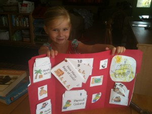 Ava is very proud of her lapbook!
