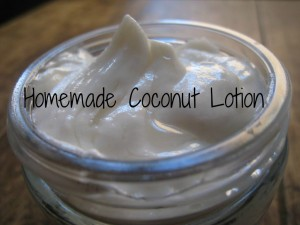 Homemade Whipped Coconut Lotion