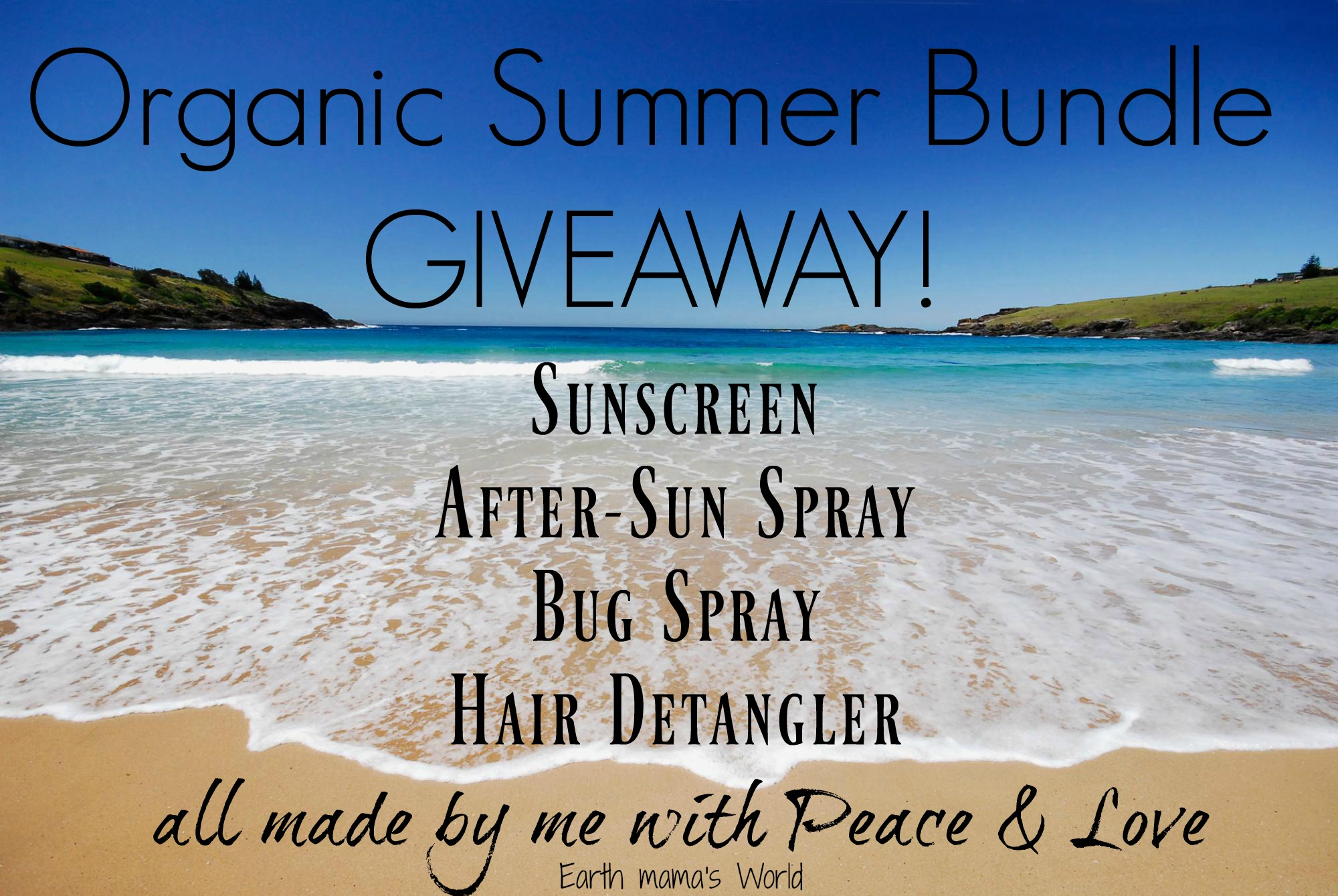 Giveaway: Organic Summer Products!